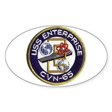USS Enterprise CVN-65 Oval Decal