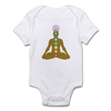 Chakra's in ascending order Infant Bodysuit