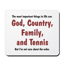 Tennis Priority - Mousepad