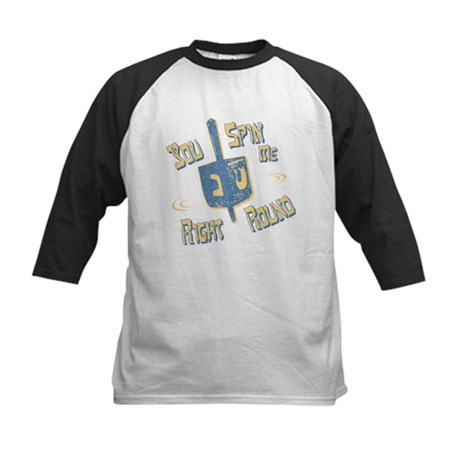 You Spin Me Right Round Kids Baseball Jersey