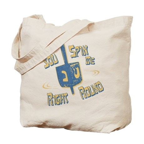 You Spin Me Right Round Tote Bag