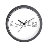 Funny Volleyball Wall Clock