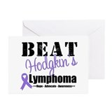 Beat Hodgkin's Lymphoma Greeting Cards (Pk of 10)