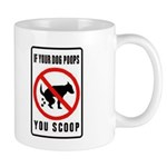 dog poop scoop Mug