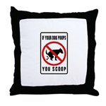 dog poop scoop Throw Pillow