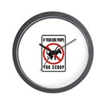dog poop scoop Wall Clock