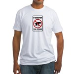 dog poop scoop Fitted T-Shirt