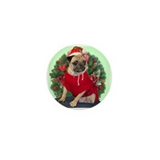 Santa Pug Mini Button