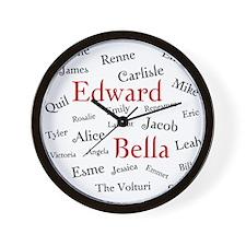 Twilight Names - Wall Clock