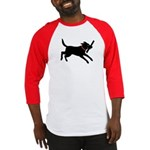 Playful Black Lab Baseball Jersey