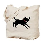 Playful Black Lab Tote Bag
