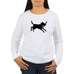 Playful Black Lab Women's Long Sleeve T-Shirt