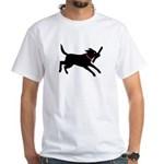 Playful Black Lab White T-Shirt