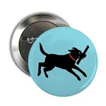 "Playful Black Lab 2.25"" Button"