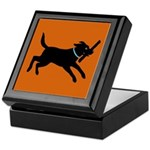 Playful Black Lab Keepsake Box