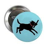 Playful Black Lab 2.25&quot; Button (10 pack)