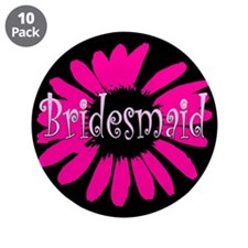"Bridesmaid 3.5"" Button (10 pack)"