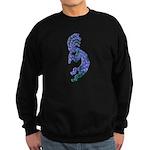Blue Kokopelli Sweatshirt (dark)
