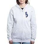 Blue Kokopelli Women's Zip Hoodie