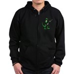 Electric Guitar Gecko Zip Hoodie (dark)