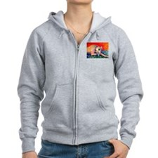 Greyhound dog 2 Zip Hoodie