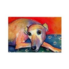 Greyhound dog 2 Rectangle Magnet
