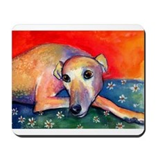 Greyhound dog 2 Mousepad