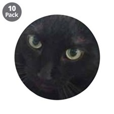 "Black Cat Eyes 3.5"" Button (10 pack)"