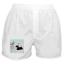 Scotties and Wren Winter Boxer Shorts