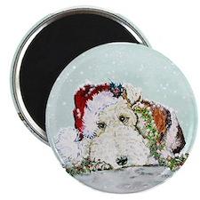 Fox Terrier Christmas Magnet