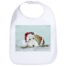 Fox Terrier Christmas Bib