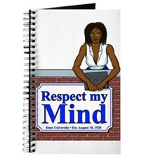 Black Respect My Mind Journal