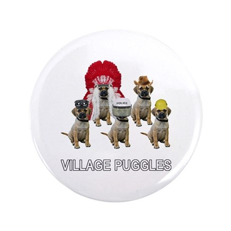 "Village Puggles 3.5"" Button"