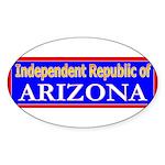 Arizona-2 Oval Sticker (10 pk)