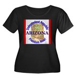 Arizona-3 Women's Plus Size Scoop Neck Dark T-Shir