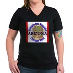 Arizona-3 Women's V-Neck Dark T-Shirt