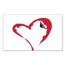 Heart Climber Rectangle Decal