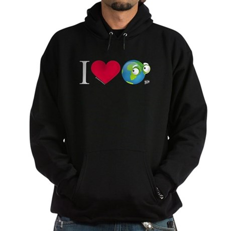 I Love Earth t-shirt Hoodie (dark)