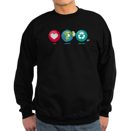 Love, Protect, Recycle Sweatshirt (dark)