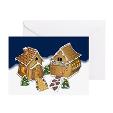 Gingerbread Houses Greeting Cards (Pk of 10)