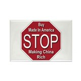 STOP Making China Rich Rectangle Magnet (100 pack)