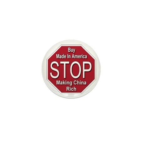 STOP Making China Rich Mini Button (100 pack)