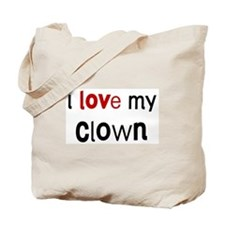 I love my Clown Tote Bag