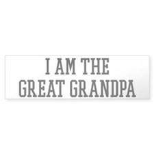 I am the Great Grandpa Bumper Sticker (10 pk)