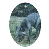 Silver Fox Chewing Ornament (Oval)