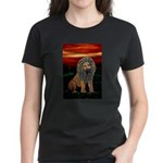 Rasta Lion Women's Dark T-Shirt