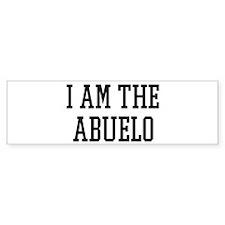 I am the Abuelo Bumper Sticker (50 pk)