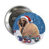 "Santa Bunny 2.25"" Button (10 pack)"