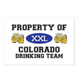 Property of Colorado Drinking Team Postcards (Pack