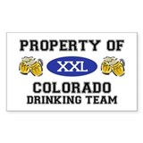 Property of Colorado Drinking Team Decal